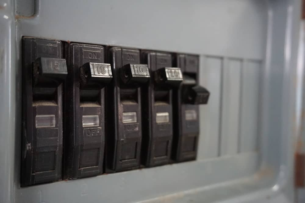 Circuit breaker switches with one switch thrown