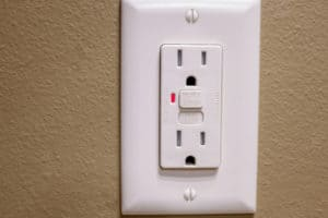 Brand new GFCI electrical outlet