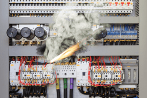 Electrical panel starting on fire. Is My Electrical Panel a Fire Hazard?