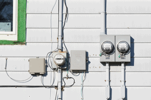 Home electrical meter box