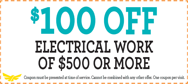 Special $100 off electrical work of $500 or more